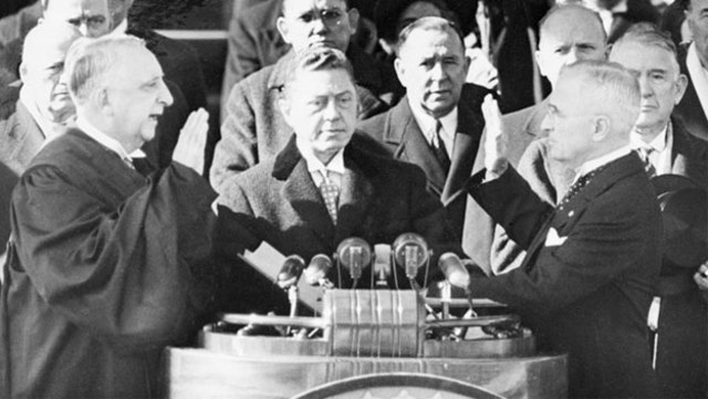 Harry Truman's Inauguration in the first televised.