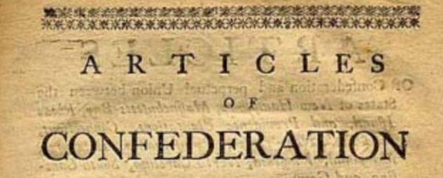 Articles  of Conferderation