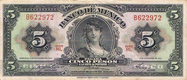 Devaluación del peso frente al dólar.