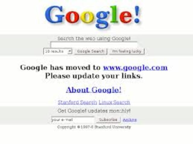 Búsquedas de Google (1998)