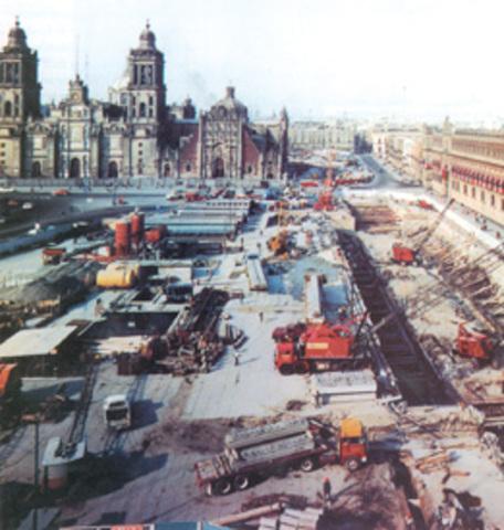 Inicio de la construcción de líneas de metro en la Ciudad de México