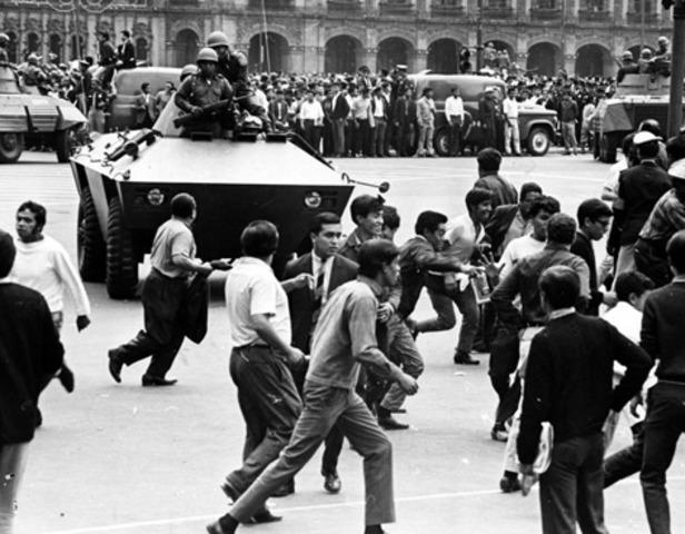 Represión contra el movimiento estudiantil en Tlatelolco