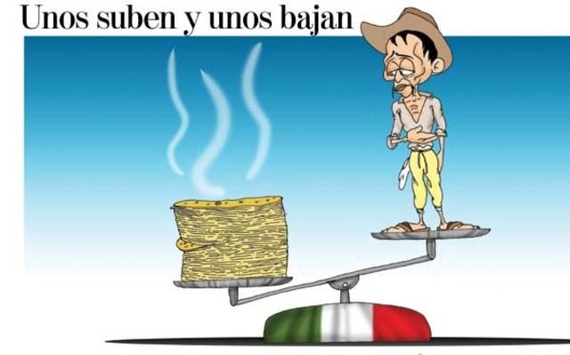 Súbita elevación del precio del maíz y la tortilla