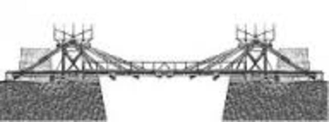 Un des premiers pont à haubans