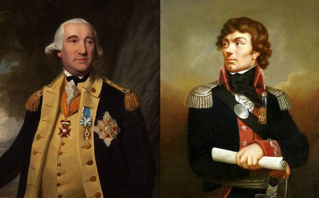 Friedrich von Steuben and Marquis de Lafayette