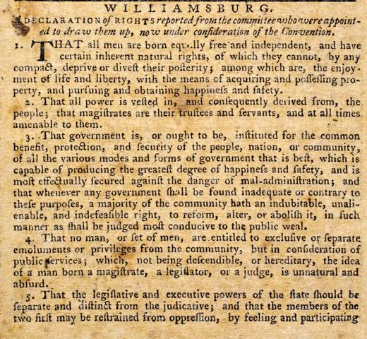 Virgina Declaration of Rights