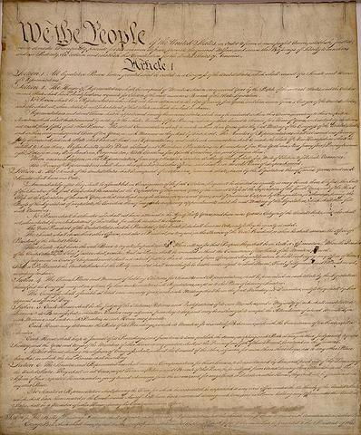 The US Constitution was signed into existance. George Washington presided over the Constitutional Convention