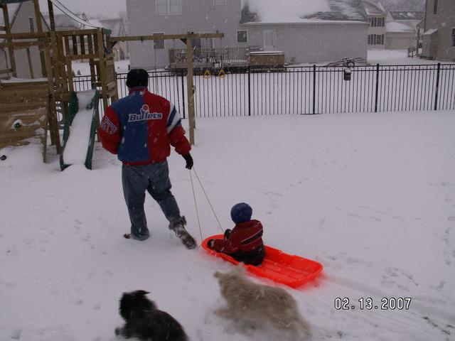 Griffey enjoys some winter time fun!