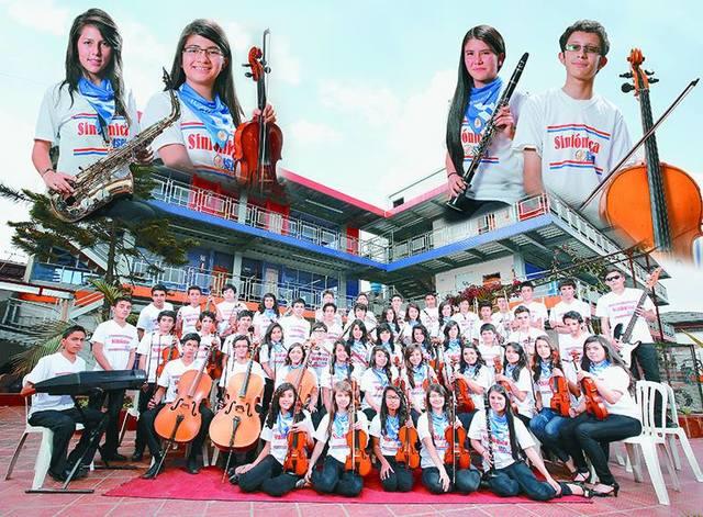Concertina de la orquesta juvenil ISPA