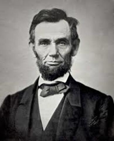 El Presidente Abraham Lincoln se acerca a los grandes Bancos de Nueva York para tratar de obtener prestamos en apoyo a la Guerra Civil de NorteAmerica .