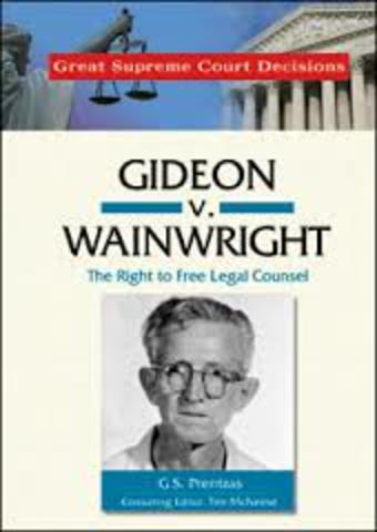 Gideon v Wainwright (Right to Counsel, due process)