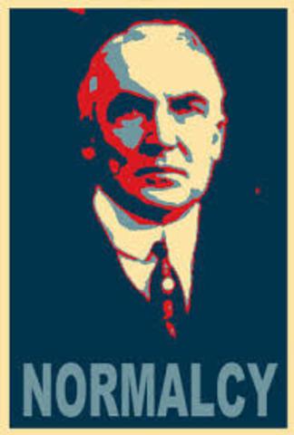 """Warren G Harding's """"Return to Normalcy"""""""