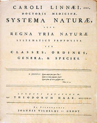 Systema Naturae.