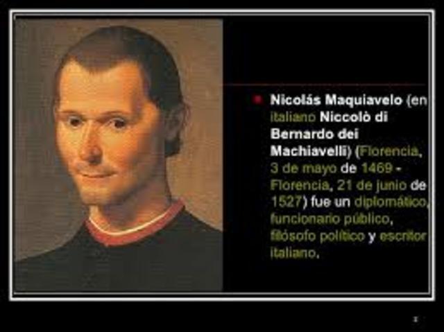 1525  Nicolás  Maquiavelo, Italia