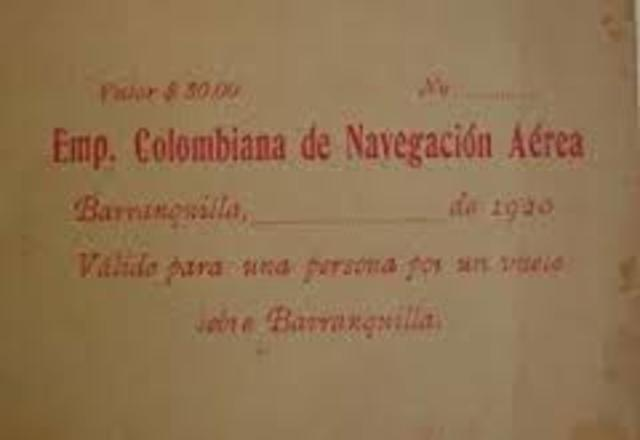 La compañia Colombiana de Navegacion Aerea CCNA
