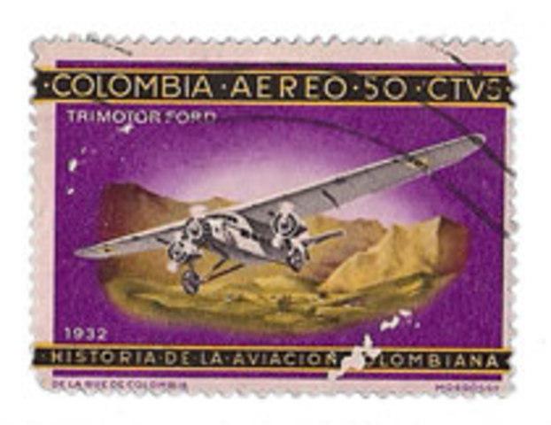 SCADTA ,primer servicio de correo Aereo