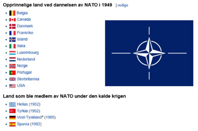 Opprettelsen av NATO