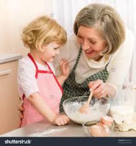 Cociné galletas con mi abuela en dos mil ocho.