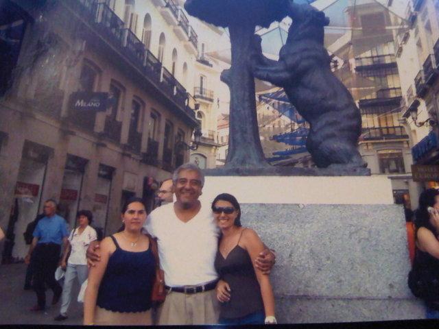 llegada de mis padres a Madrid