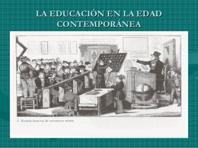 Edad Contemporánea de la Educación, Siglo XIX-XX