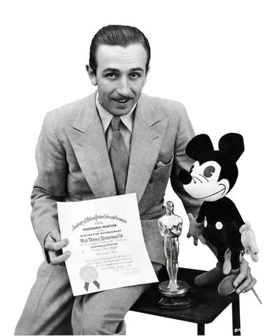 Walt Won First Awards for Mickey Mouse