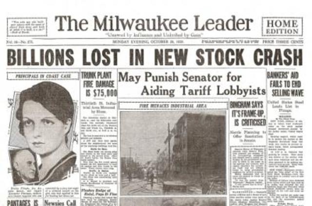U.S stock market crash