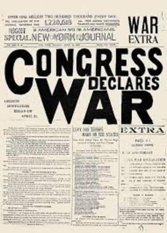 U.S. Congress declares war on Spain