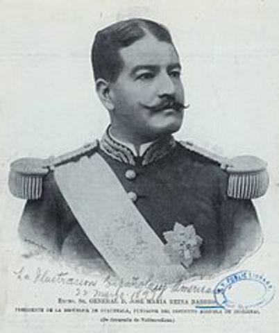GENERAL JOSÉ MARÍA REYNA BARRIOS