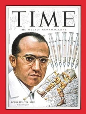 Salk Announces Polio Vaccine