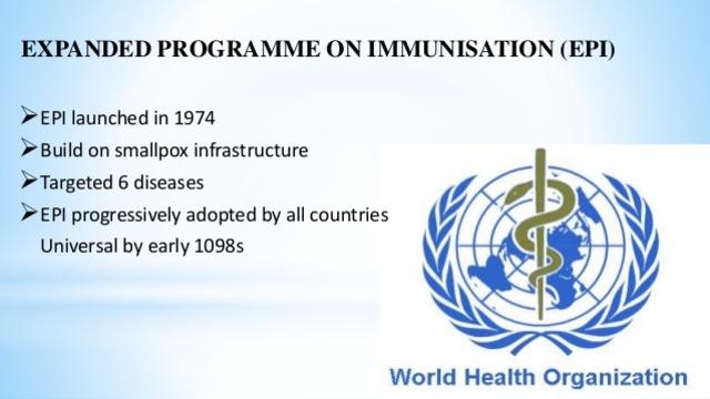 Expanded Programme on Immunization Started