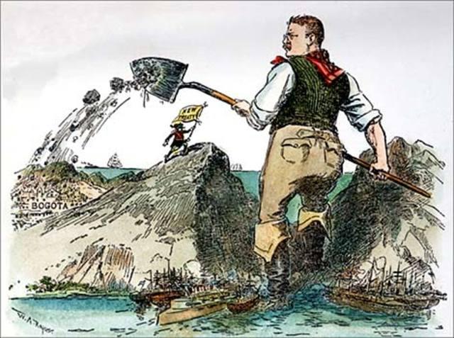 Panama Canal- Roosevelt Uses Big Stick
