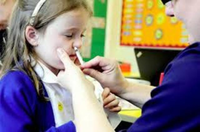 First Nasally Administered Flu Vaccine