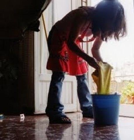 Niños como sirvientes
