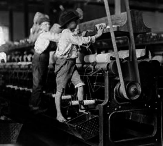 Niños trabajadores industriales