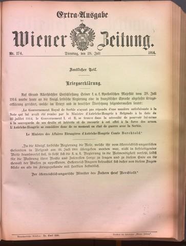 Declaració de guerra d'Àustria a Sèrbia