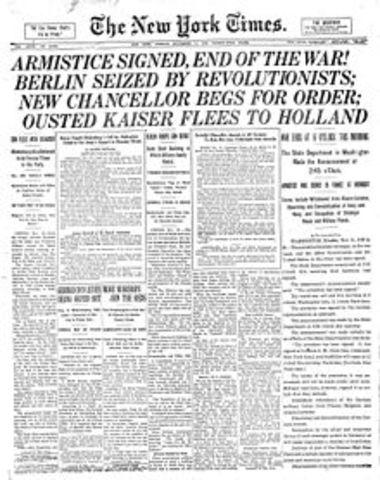 Signatura de l'Armistici de Compiègne