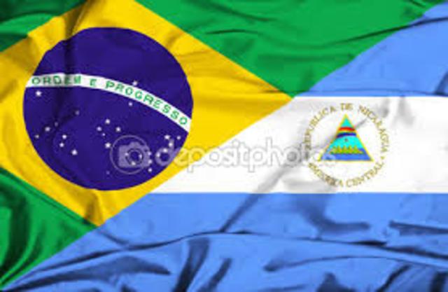 1989  ingresa internet en Brasil y Nicaragua