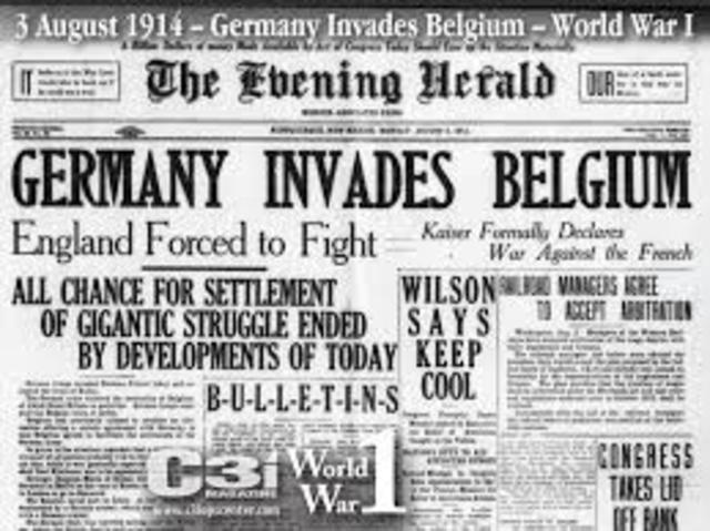 Germany Invades Belgium (Schlieffen Plan)