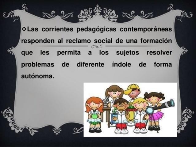 Corrientes pedagógicas contemporáneas Siglo XX-XXI
