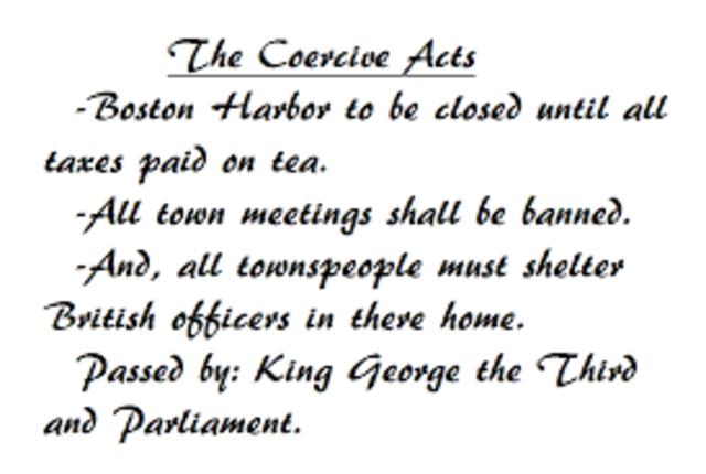 The coersive act