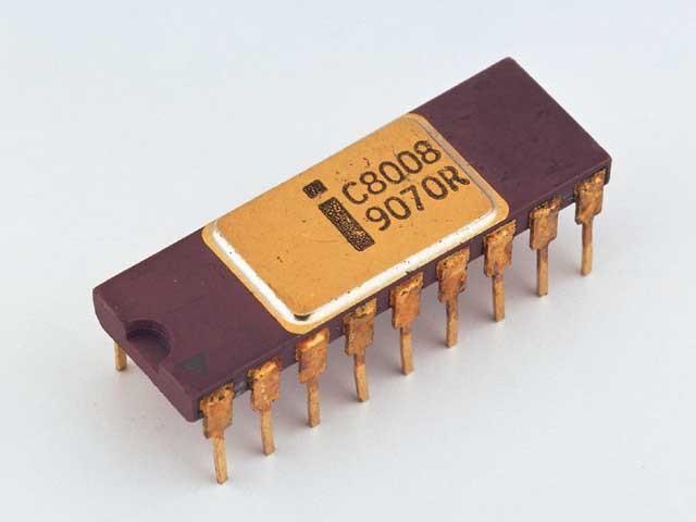 Lanzamiento del microprocesador Intel 8008.