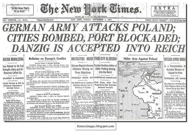 The Second World War begins