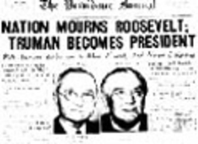 Franklin D. Roosevelt dies