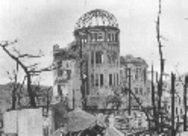 Atomic bomb dropped.