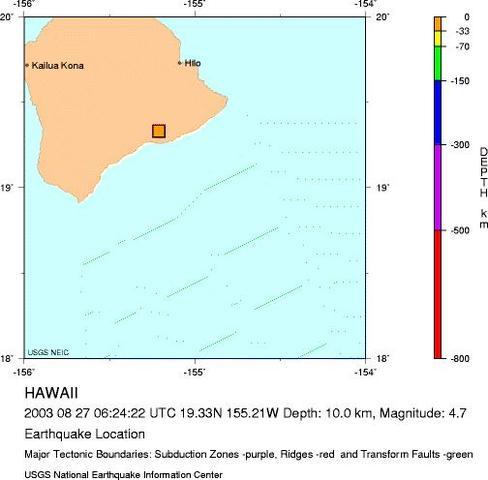 Volcano, Hawaii - M 4.7 Earthquake