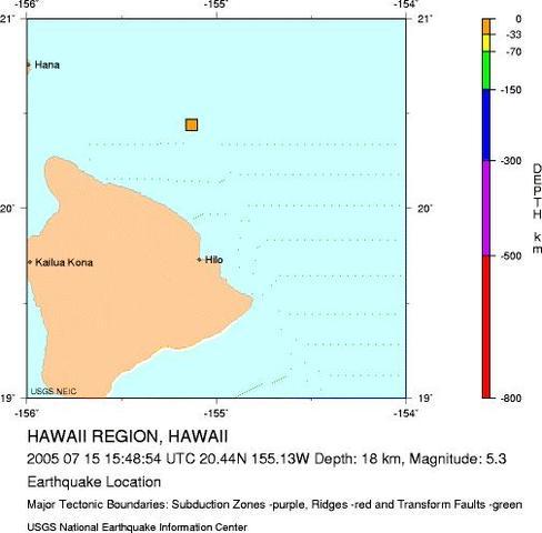 Hawaii region, Hawaii - M 5.3 Earthquake