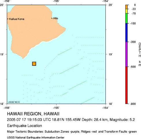 Hawaii region, Hawaii - M 5.1 Earthquake