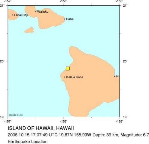 Hawaii region, Hawaii - M 6.7 Earthquake
