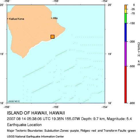 Island of Hawaii, Hawaii - M 5.4 Earthquake