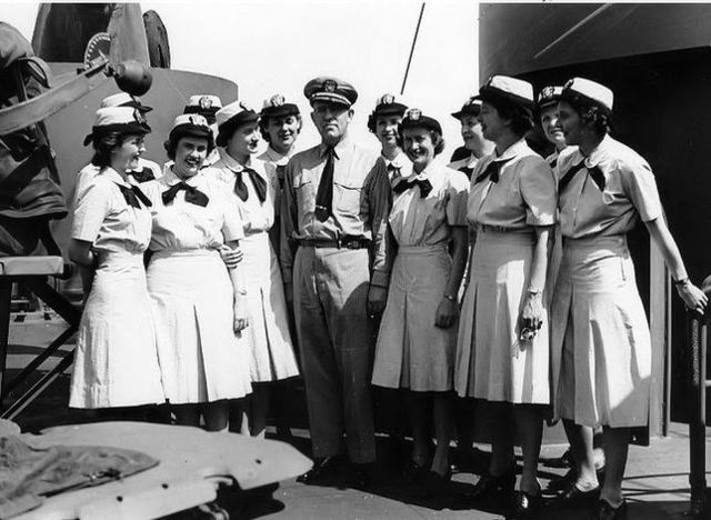 President Franklin D. Roosevelt signed the Public Law 689 creating the Navy's women reserve program (WAVES)